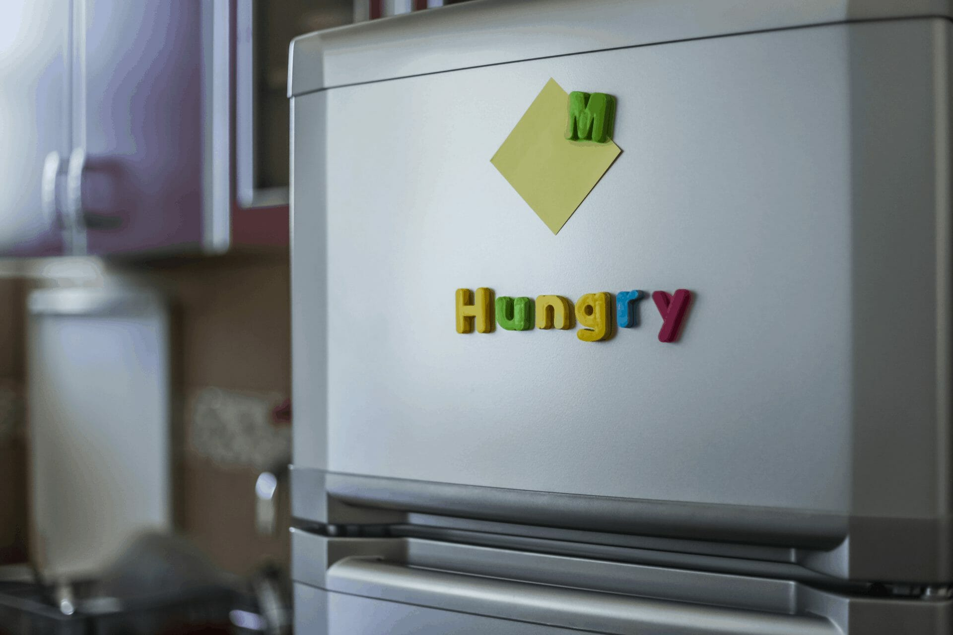 stickers on fridge